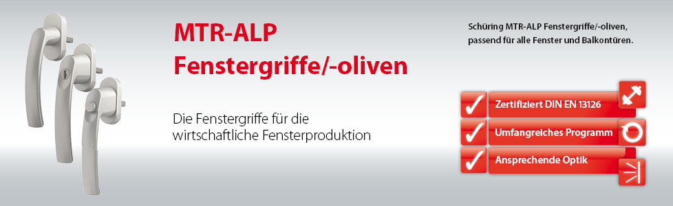 Fenstergriffe Oliven ALP